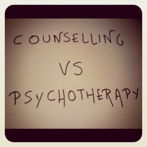 counselling vs psychotherapy