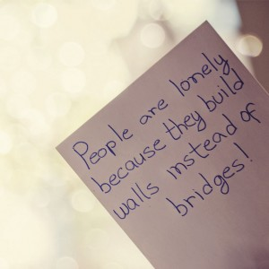 building walls instead of bridges