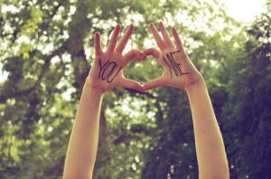 you & me hands